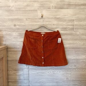 Urban Outfitters orange button skirt